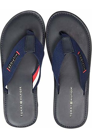 Tommy Hilfiger Elevated Leather Beach Sandal Infradito Uomo, Blu 46 EU