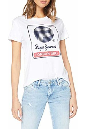 Pepe Jeans 45th 04l T-Shirt Donna, Avorio Small
