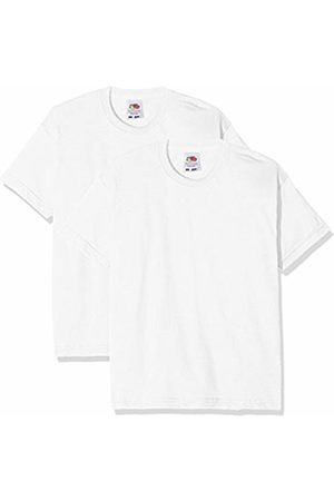 Fruit Of The Loom Kids Valueweight Short Sleeve T 2 Pack, T-Shirt Bambino, Bianco White, 12-13 Anni Pacco da 2