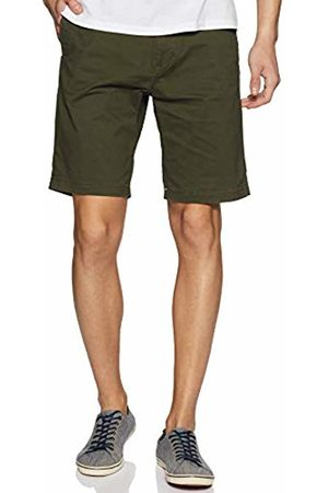 Scotch&Soda Classic Cotton/Elastane Chino Short Pantaloncini Uomo, Verde W36