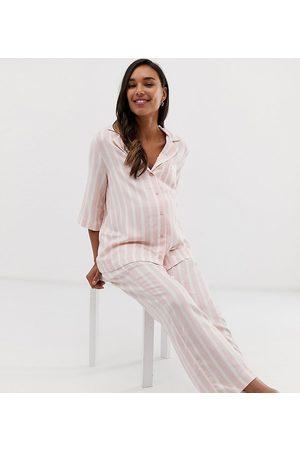 1eaddada9456a ASOS ASOS DESIGN Maternity - Mix   match - Pantaloni del pigiama a righe
