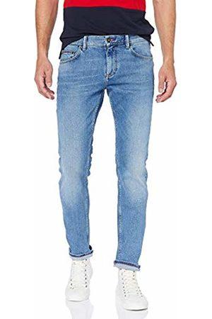 Tommy Hilfiger Slim Bleecker STR Cheviot Blue Jeans Uomo, Blu 911, W34/L34