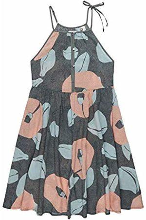 O'Neill LW High Neck Beach DRESS-6941 Green AOP with Pink-M, Vestiti Donna, , M