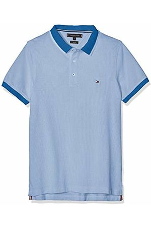 Tommy Hilfiger Jacquard Structured Slim Polo Uomo, Blu X-Large
