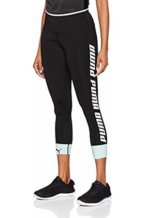 Puma Modern Sports Foldup, Leggings Donna, Nero Black/Fair Aqua Silver, L