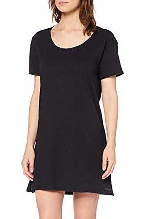 Calvin Klein S/s Nightshirt Top Pigiama Donna, Nero 44