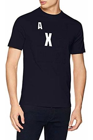 Armani Embossed Logo, T-Shirt Uomo, Blu , Large
