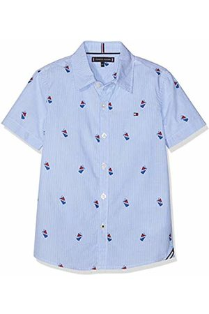 Tommy Hilfiger Mini Stripe Print Shirt S/s, Camicia Bambino, Bianco , 128