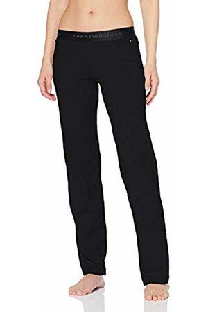 Tommy Hilfiger Cotton Pant Iconic, Pantaloni da Pigiama Donna, Nero , 40