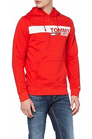 Tommy Hilfiger Tjm Essential Graphic Hoodie, Felpa Uomo, Rot , M
