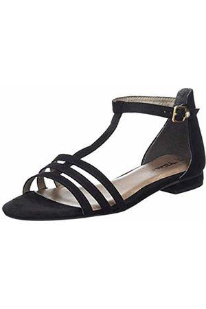 Tamaris 1-1-28161-22, Sandali con Cinturino alla Caviglia Donna, Nero , 38 EU