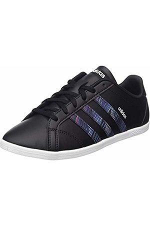 adidas Coneo QT, Scarpe da Tennis Donna, Nero Core Black/Active Purple, 38 EU