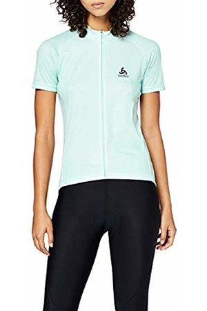 Odlo Stand-up Collar s/s Full Zip Element Print, Maglietta Donna, , M