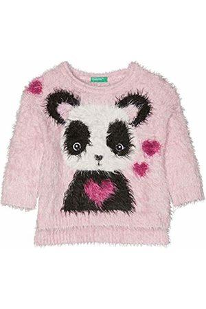 Benetton Sweater L/s, Felpa Bambina, Rossa, 3 anni