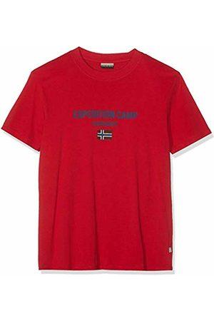 Napapijri Sonthe, T-Shirt Uomo, Rosso , XX-Large