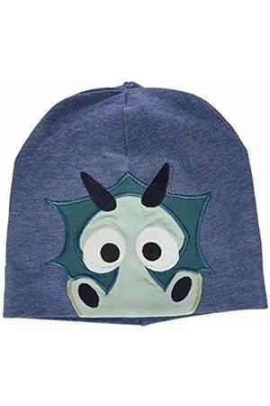 Green Cotton Dragon Beanie, Set Sciarpa, Guanti e Cappello Bambino, Blu , XL