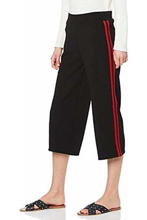 Tom Tailor Casual Strukturierte Culotte Hose mit Tapes, Pantaloni Donna, Nero , W26
