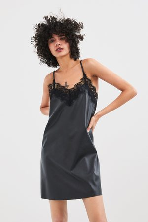 Zara Vestito effetto pelle