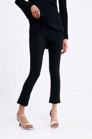 Zara Donna A zampa - Pantaloni mini campana