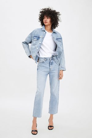 Zara Jeans edited hi rise straight