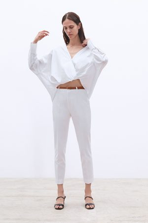 Zara Donna Chinos - Pantaloni chino cintura