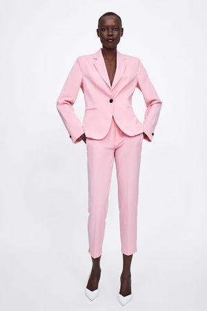 Zara Donna Slim & Skinny - Pantaloni a sigaretta orlo spacco