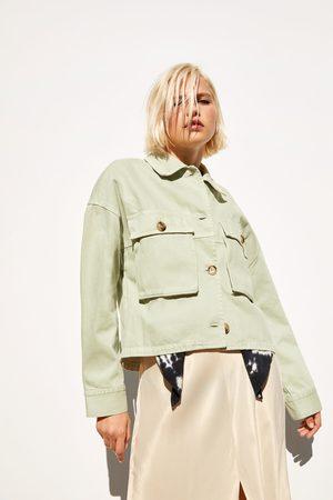Zara Giacca-camicia con taschini