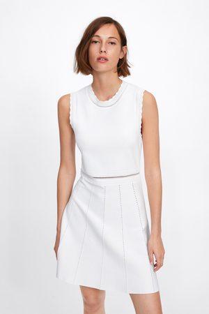 Zara Vestito in maglia traforata