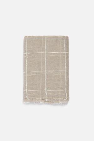 Zara Foulard in lino a quadri