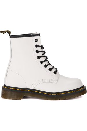 Dr. Martens Donna Anfibio 1460 Smooth in pelle bianca