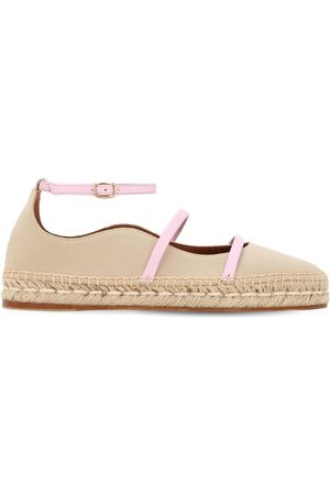 "MALONE SOULIERS Espadrilles ""selina"" In Cotone E Pelle 20mm"