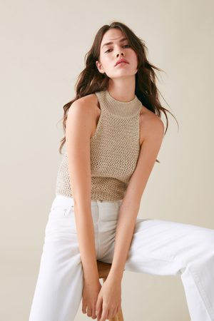 Zara Donna Halterneck - Top halter in maglia