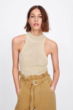 Zara Top halter in maglia