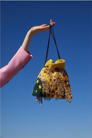 Zara Borsa a tracolla a secchiello perline