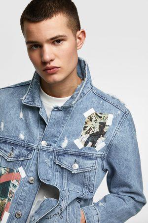 Zara Uomo Giacche di jeans - Giubbotto denim stampe fotografiche
