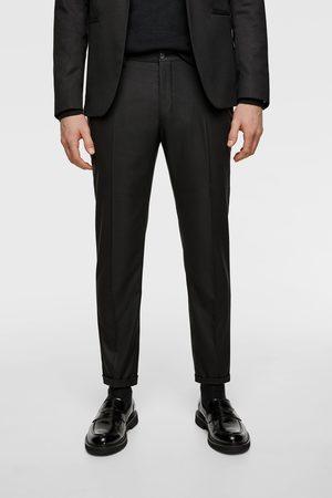 Zara Pantaloni da completo strutturati cropped