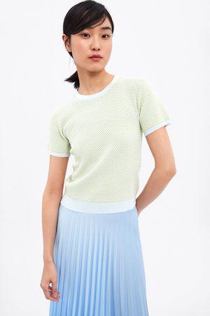 Zara Pullover in maglia bicolore
