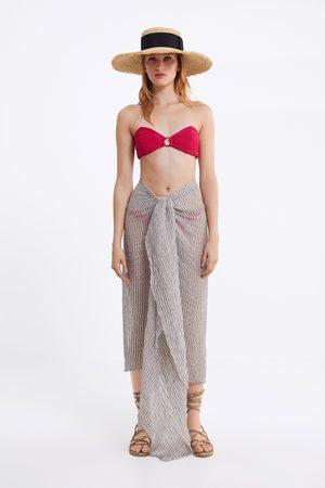 Zara Donna Bikini - Top bikini a fascia con texture