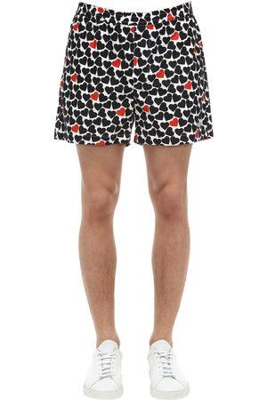 Msgm Shorts In Popeline Di Cotone