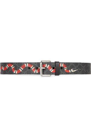 Gucci Cintura GG con stampa Kingsnake
