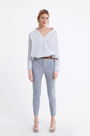 Zara Striped chinos with belt