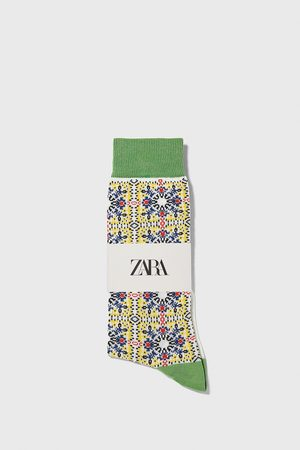 Zara Uomo Calze - Calzini cotone mercerizzato jacquard geometrico