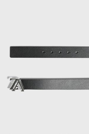 Zara Cintura in pelle fibbia logo