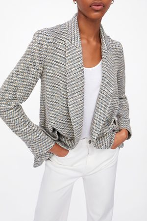 2c60851808fcc Zara Textured double-breasted blazer
