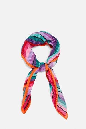 Zara Foulard plissettato stampato