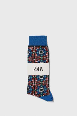 Zara Calzini cotone mercerizzato jacquard geometrico