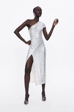 Zara Vestito paillettes asimmetrico