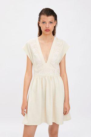 Zara Vestito tessuti combinati guipure