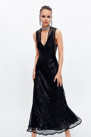Zara Vestito paillettes rete edizione limitata