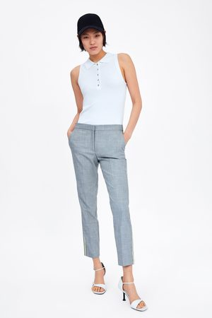 Zara Pantaloni jogger waist con striscia laterale